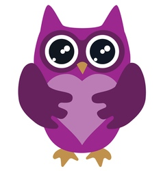 owl lilac vector image