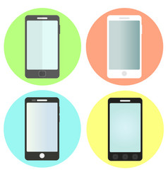 set of flat smartphone icons vector image vector image