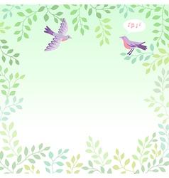 sing bird vector image vector image