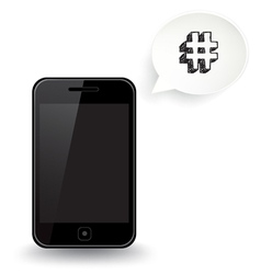 Smart phone hashtag vector