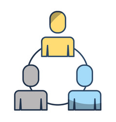 teamwork business people connection cooperation vector image