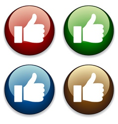 Thumbs up buttons vector