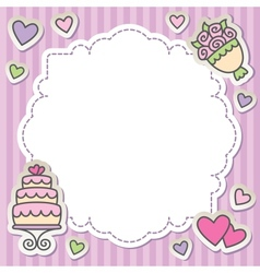 wedding frame vector image vector image