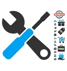 Tools icon with free bonus vector