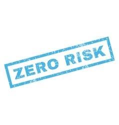 Zero risk rubber stamp vector