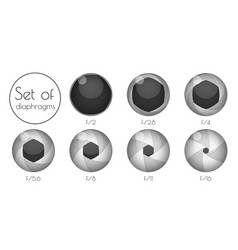 set the lens aperture vector image
