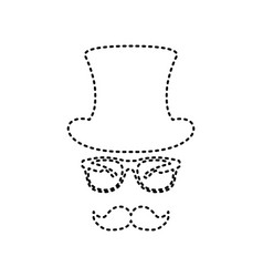 Hipster accessories design  black dashed vector