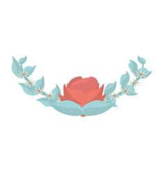 Flower flora leaves decoration image vector