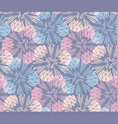 Dandelion burlap seamless pattern background vector