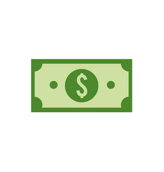 green bill dolar money vector image