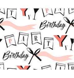 Hand made abstract happy birthday greeting vector