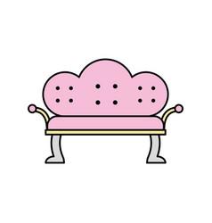 Antique sofa isolated icon vector