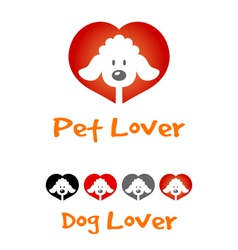 Dog lover symbol vector