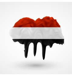 Flag of yemen painted colors vector