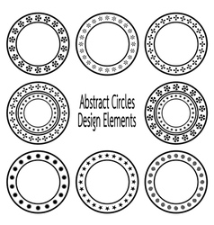 Circle design element vector
