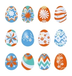 Easter eggs isolated on white vector