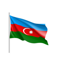 azerbaijan national flag realistic vector image
