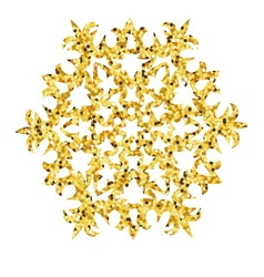 Christmas gold card with snowflake vector image vector image