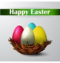 Easter nest isolated vector image vector image