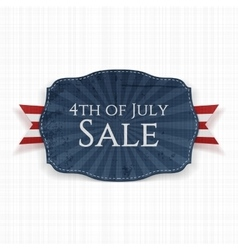 Fourth of July Sale Holiday Label vector image
