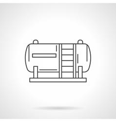 Fuel tank flat line design icon vector