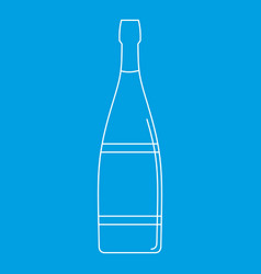 Glass bottle icon outline style vector