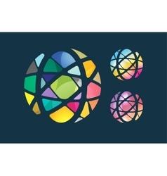 globe abstract logo template Circle round vector image vector image
