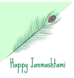 Happy janmashtami indian feast vector