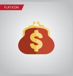 isolated billfold flat icon saving element vector image