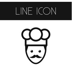 Isolated chef outline cook element can be vector