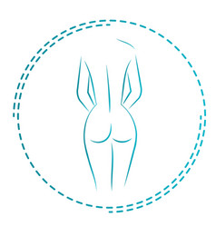logo and icon for the masseur or orthopedic naked vector image