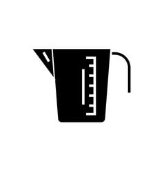 measuring cup icon black vector image