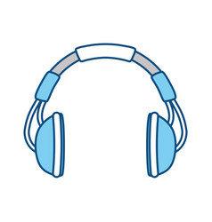 Music headphones symbol vector