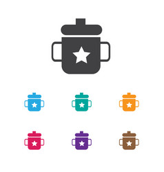 Of infant symbol on mug icon vector