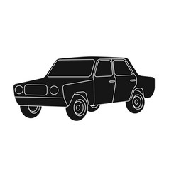 Old carcar single icon in black style vector