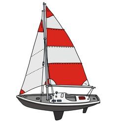 Small sailing yacht vector