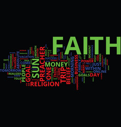 The power of faith in your online business text vector