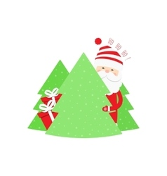 Christmas background with Santa Claus vector image