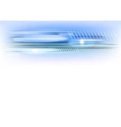 abstract shape blue horizontal vector image