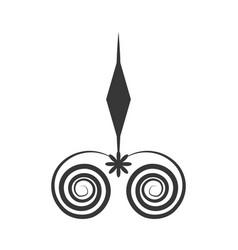 Arrow decorate ornate style vector