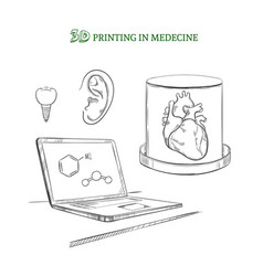 Hand drawn medical technology innovations concept vector