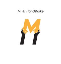 Creative m letter icon abstract logo design vector