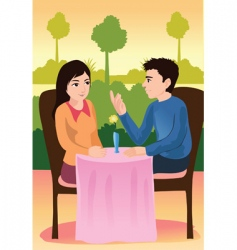 first date vector image
