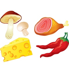 Set of food vector