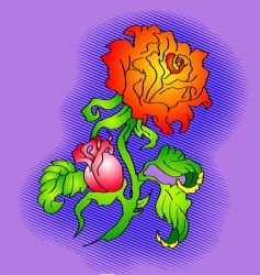 flower tattoo vector image