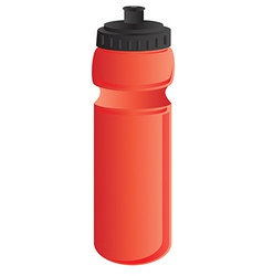 Red sports water bottle vector