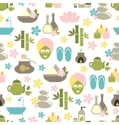 Seamless pattern from spa of elements vector