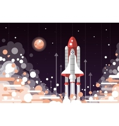 Modern flat design of space shuttle vector image