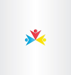 People logo winner symbol design vector