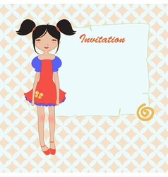 Cool invitation frame vector